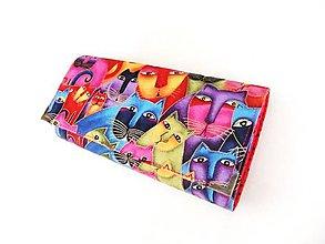 Peňaženky - Luxusní barevné čičiny - velká na spoustu karet - 5297687_