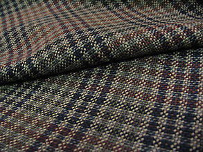 Textil - Káro zeleno hnedé - 5297960_