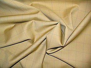 Textil - Béžové káro - 5297981_