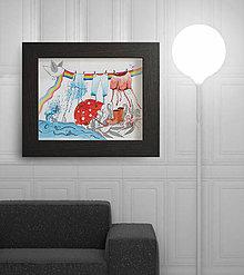 Kresby - Po daždi, alebo veľké pranie :) - 5298736_