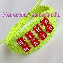 Náramky - Shamballa náramok s písmenkami - 5299975_