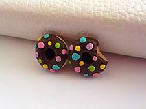 Náušnice - lentilkove donutky-napichovacky - 5301343_
