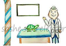 Papiernictvo - Svetový veterinárny deň - pohľadnica (korytnačka) - 5300129_