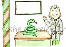 Papiernictvo - Svetový veterinárny deň - pohľadnica (had) - 5301383_