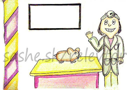 Svetový veterinárny deň - pohľadnica (škrečok)
