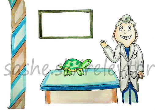 Svetový veterinárny deň - pohľadnica (korytnačka)