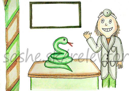 Svetový veterinárny deň - pohľadnica (had)