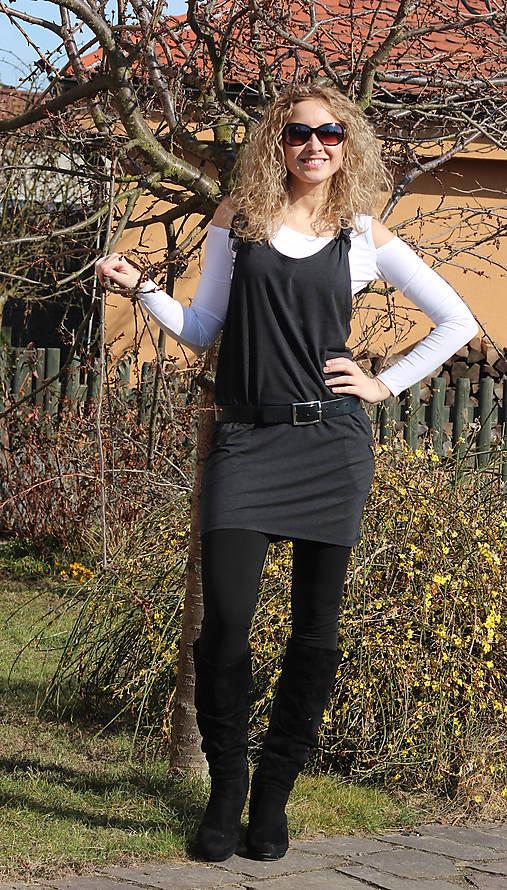 Tmavěšedá šatová sukně   ladeesse - SAShE.sk - Handmade Šaty 7c6101d62a