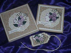 Papiernictvo - Svadobná pohľadnica v krabičke - 5305352_