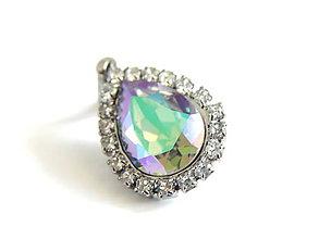 Náhrdelníky - Rutheniovy privesok so Swarovskeho kristalom - 5303914_