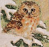 Obrázky - Vyšívaná Sovička primrznutá o konárik :-) - AKCIA 50 - 5304032_
