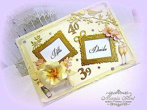 Papiernictvo - Narodeninová elegancia pre úžasný pár... - 5303542_