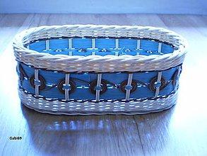 Košíky - Čerokézske kruhy v modrom - 5304513_