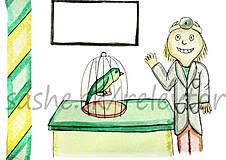 Papiernictvo - Svetový veterinárny deň - pohľadnica (vtáčik) - 5302071_