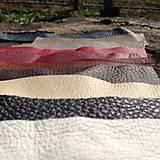 Suroviny - Ústrižky kože (Rôzne farby) - 5306688_