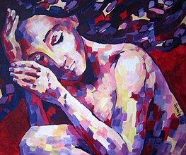 Obrazy - Prosím, pretočte môj sen späť na začiatok - obraz na stenu, maľba, originál - 5307281_