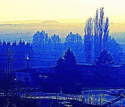 Grafika - Modrá továreň - 5306826_