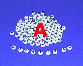 Korálky - A - Akrylové písmenko, biele - 5306557_