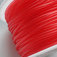 Galantéria - Silikon.šnúra 1,8mm-1m (sv.červená) - 5308486_