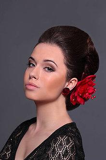 Ozdoby do vlasov - spona ohnivo-červená, typ 95 - 5310000_