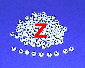 Korálky - Z - Akrylové písmenko, biele - 5308712_