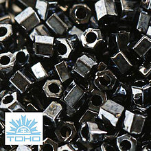 Korálky - TOHO rokajl (Hex 2mm) Metallic hematite - 5311740_