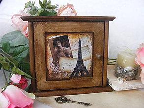 Krabičky - Vintage skrinka na kľúče ... - 5309464_