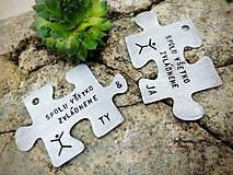 Kľúčenky - PUZZLE YOU & ME s textom - 5312669_