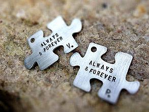 Kľúčenky - mini PUZZLE 2ks / menší brat väčšieho :) - 5312663_