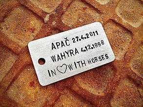 Kľúčenky - In Love With Horses / 2mm hrúbka - 5312678_