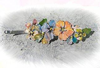 Ozdoby do vlasov - flowers - spona do vlasov - 5312639_