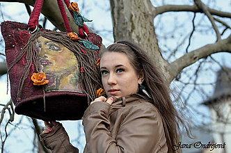 Veľké tašky - Plstená hodvábna kabelka ANNA - 5315946_