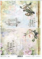 Papier - Ryžový papier 2 x Beauty 709 - 5314018_