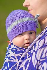 Detské čiapky - Prechodná... s mašličkou