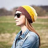 Čiapky - Bavlnená hnedo béžovo žltá - 5318381_