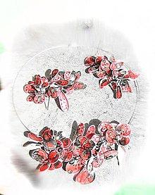 Sady šperkov - masked flowers -náhrdelnik, spona a brošňa - 5319700_
