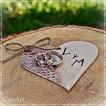 Prstene - Srdce na svadobné obrúčky - 5317548_