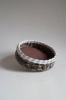 Košíky - Košík papierový - Hnedá prírodná III - 5320084_