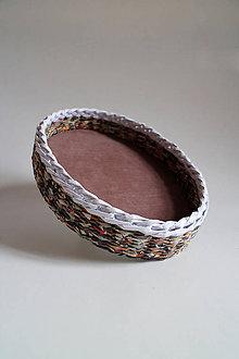 Košíky - Košík papierový - Hnedá prírodná IV - 5320180_