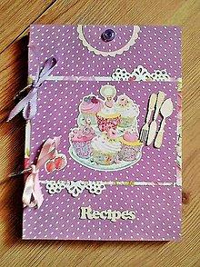 Papiernictvo - fialový receptárik - 5319794_