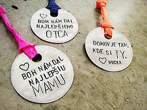 Kľúčenky - ..pre maminu a tatina :) / cena za 1ks - 5323867_