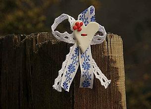 Pierka - Svadobné pierko ľudové - modré - 5323461_