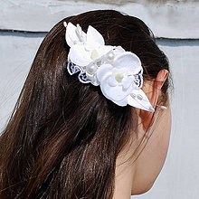 Ozdoby do vlasov - Štipec do vlasov s orchideami - 5322032_