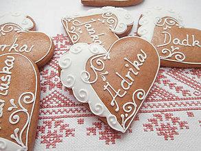 Darčeky pre svadobčanov - Srdiečková menovka Adrika - 5320956_