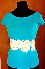 Tričká - Tričko s margarétkami - Marguerite I. - tyrkys - 5322747_