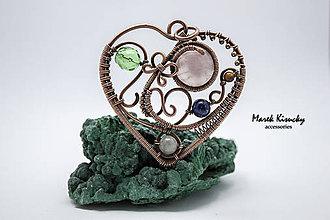 Náhrdelníky - Srdce s motýľom - 5322582_