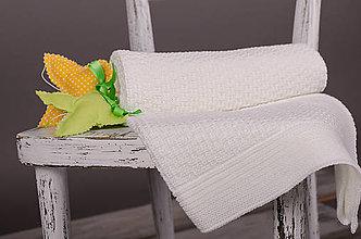 "Textil - Jemná deka pre Bábätko, ""Dots"",OEKO-TEX® - Biela - 5322223_"