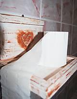 Dekorácie - Retro držiak - polička - na toaletný papier - 5322639_