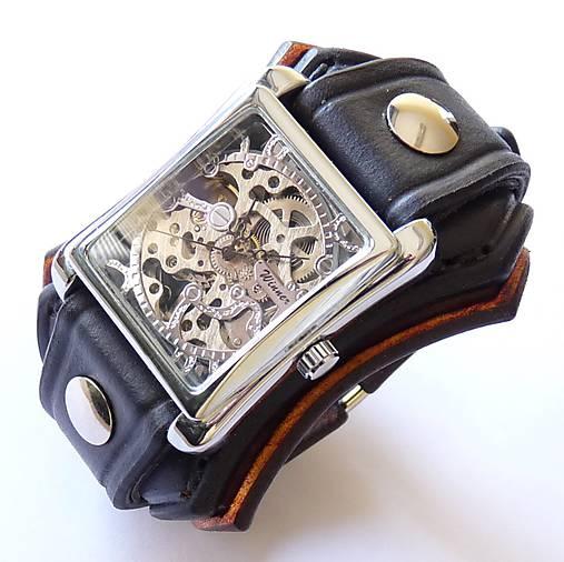 2babee08b Pánske kožené hodinky hnedo-čierne / leon - SAShE.sk - Handmade Náramky
