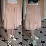 Sukne - Tylová sukňa so saténovým pásom rôzne farby - 5321788_